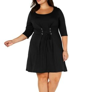 Love Squared Black Dress Size 2X NWT